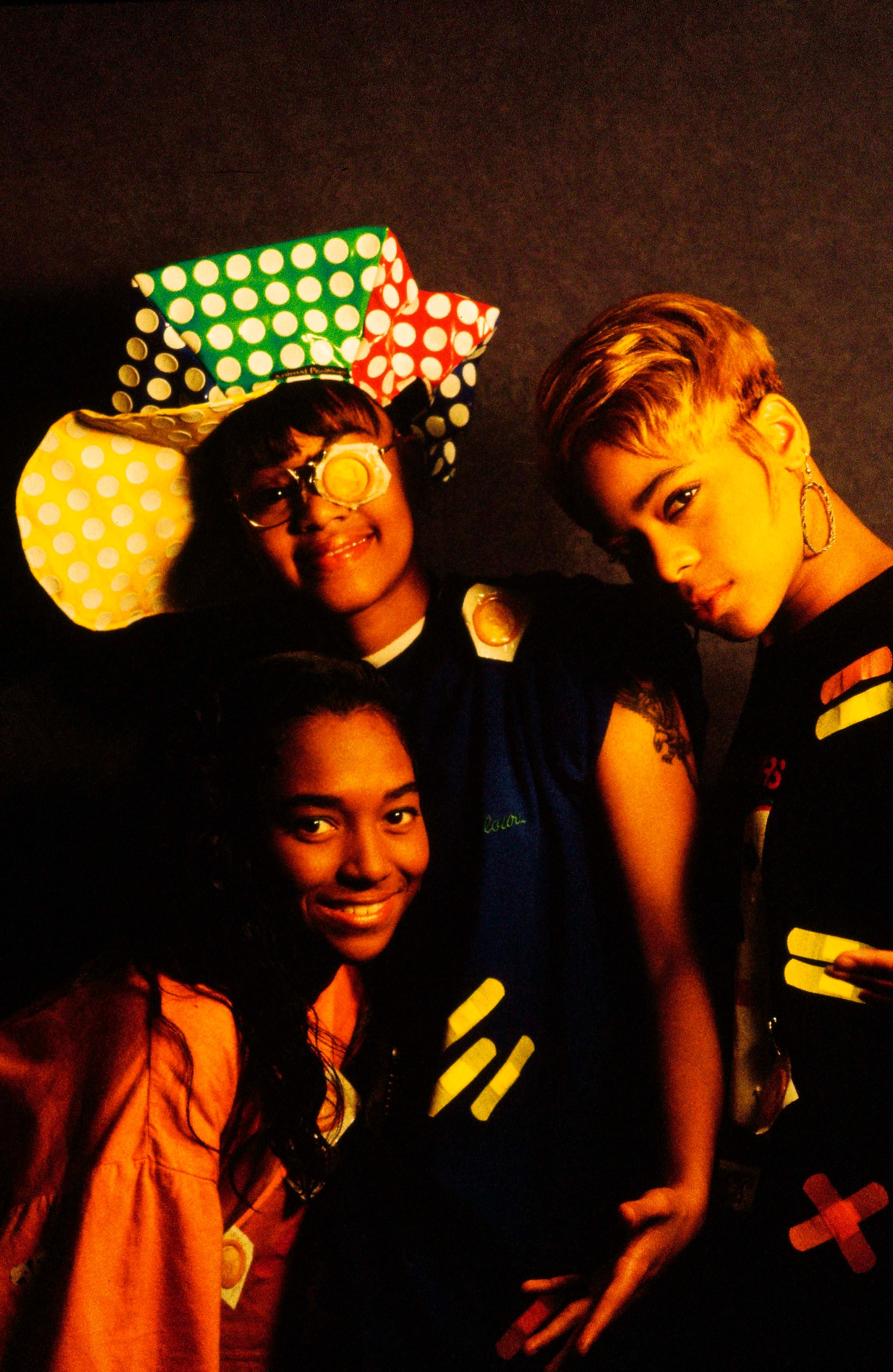 NETHERLANDS - 1st JANUARY: American group TLC (featuring Rozonda 'Chilli' Thomas, Lisa 'Left-Eye' Lopes and Tionne 'T-Boz' Watkins) posed together in The Netherlands in 1992. (Photo by Michel Linssen/Redferns)