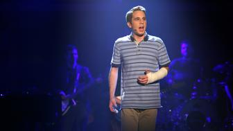LATE NIGHT WITH SETH MEYERS -- Episode 453 -- Pictured: Ben Platt during an performance of 'Dear Evan Hansen' on November 22, 2016 -- (Photo by: Lloyd Bishop/NBC/NBCU Photo Bank via Getty Images)