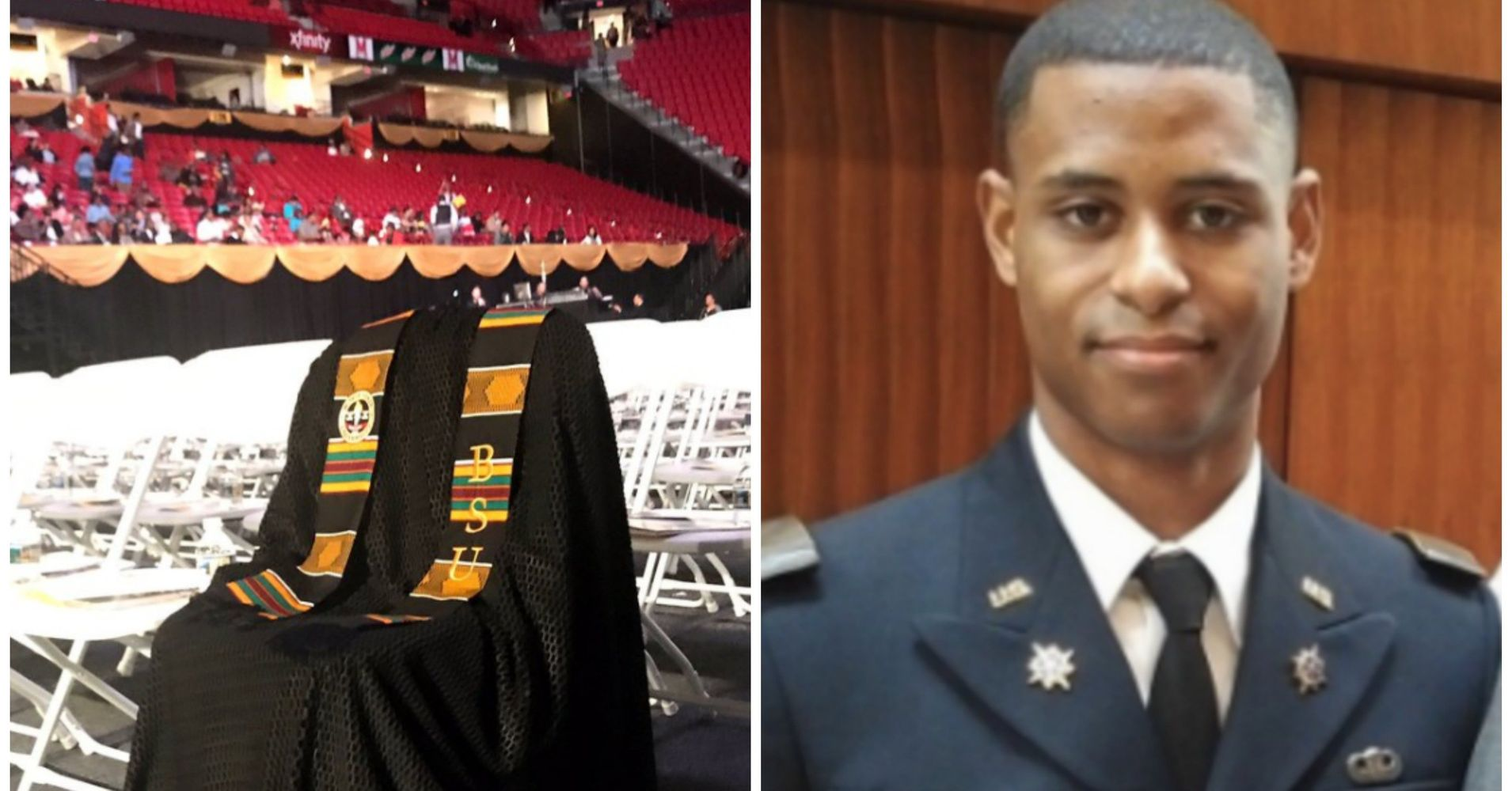 Richard Collins III Honored At Commencement With Graduation Gown On ...