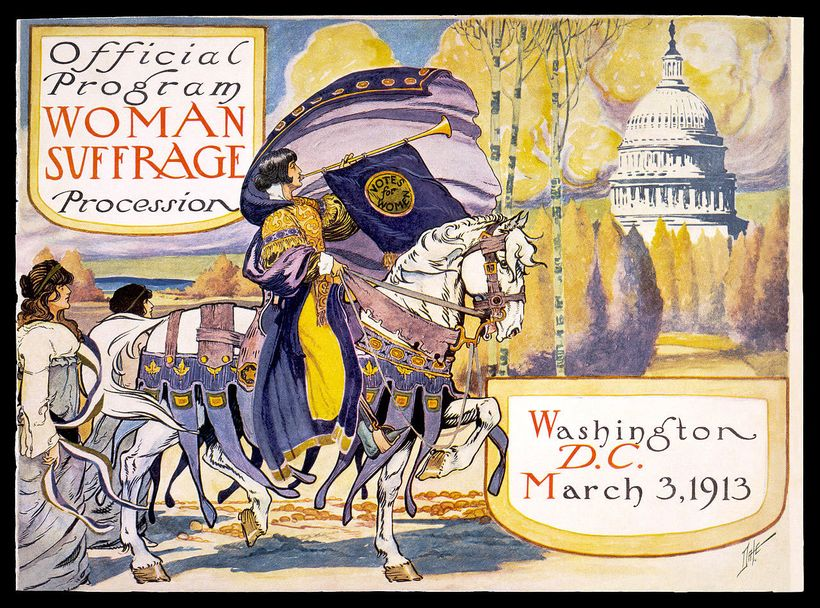 Woman Suffrage Procession, 1913 official program - Courtesy of National Woman's Party Collection, Sewall
