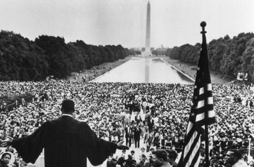 Doctor Martin Luther King on the Washington Mall, 1963