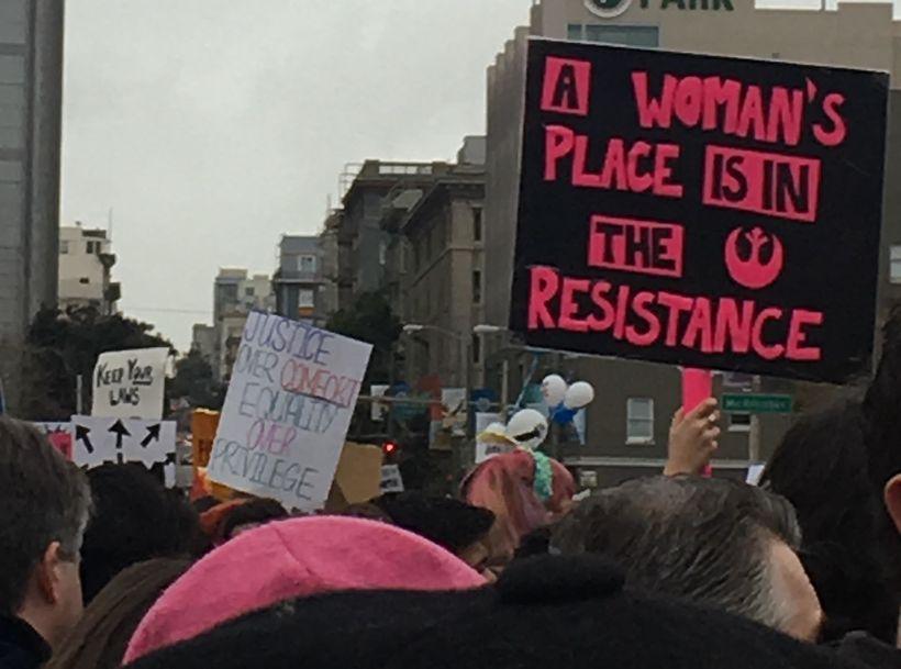 Women's March in San Francisco January 21, 2017