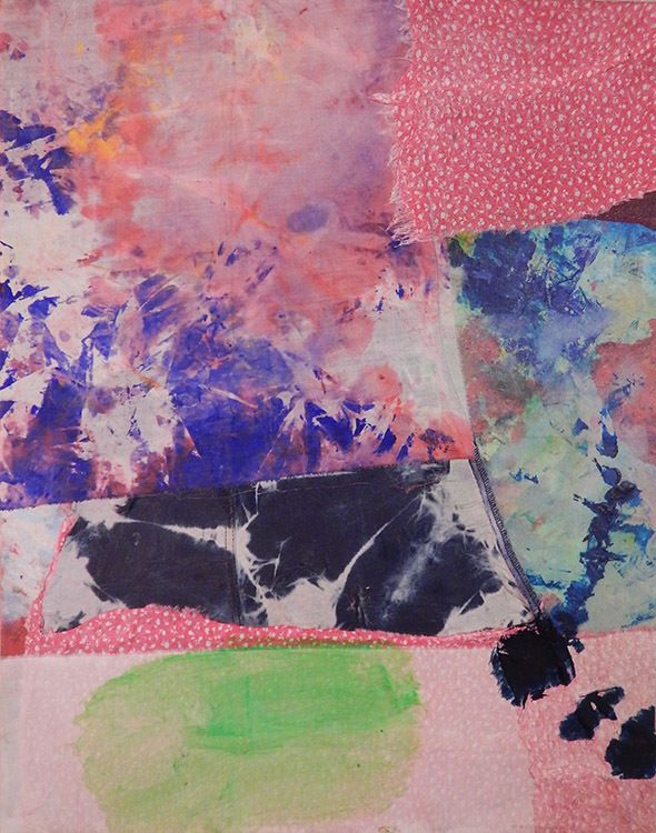 Mark Sharp, <em>Untitled 2217</em> (2016), mixed media on canvas, 28 x 24 inches