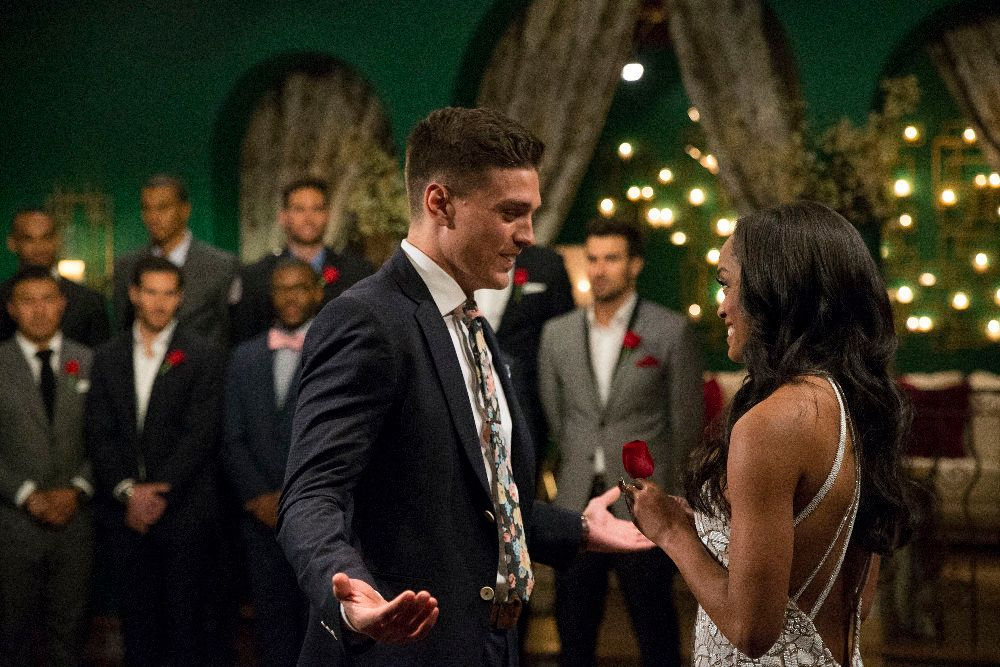 """BACHELORETTE 13 - �Episode 1301� - Accomplished Texas attorney Rachel Lindsay takes a recess from the courtroom to start her search for happily ever after in the 13th edition of ABC's hit series, """"The Bachelorette,"""" premiering at a special time, MONDAY, MAY 22 (9:01-11:00 p.m. EDT), on The ABC Television Network. (ABC/Paul Hebert)DEAN, RACHEL LINDSAY, KYLE, IGGY, MILTON, JACK, BRYCE, KENNETH, BRYAN"""
