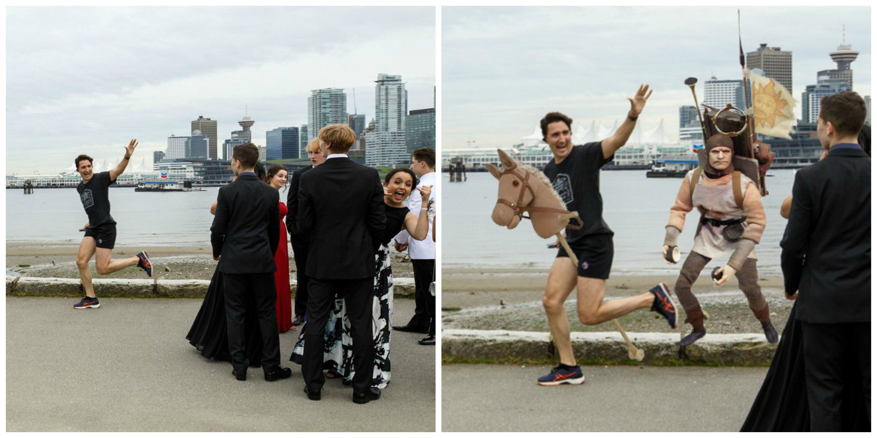 Justin Trudeau's Prom Photo Bomb Gets Hilarious Photoshop