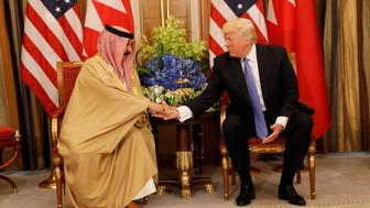 U.S. President Donald Trump meets with Bahrain's King Hamad bin Isa Al Khalifa in Riyadh, Saudi Arabia, May 21, 2017. REUTERS/Jonathan Ernst