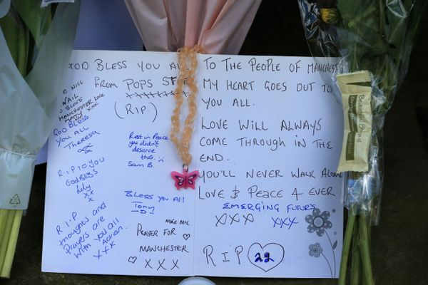 Tributes for those who lost their lives in the Manchester Arena attack.