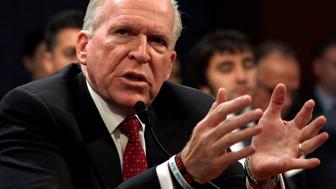 """Former CIA director John Brennan testifies before the House Intelligence Committee to take questions on """"Russian active measures during the 2016 election campaign"""" in the U.S. Capitol in Washington, U.S., May 23, 2017. REUTERS/Kevin Lamarque"""