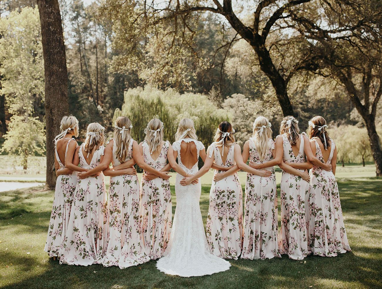 2018 Floral Bridesmaids Dress