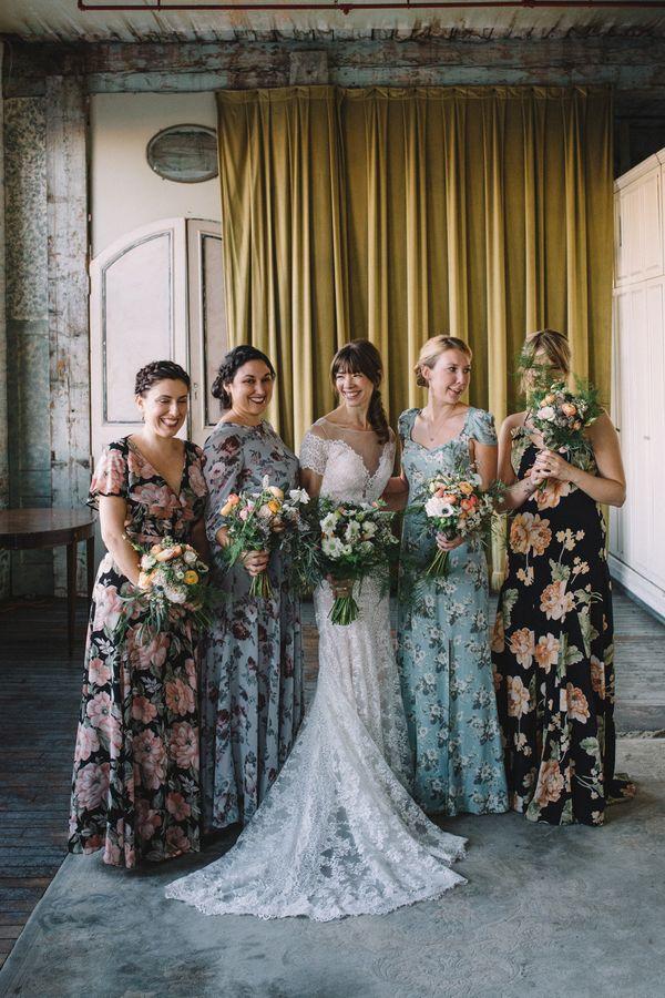 <i>Dresses: Bridesmaids' own</i>