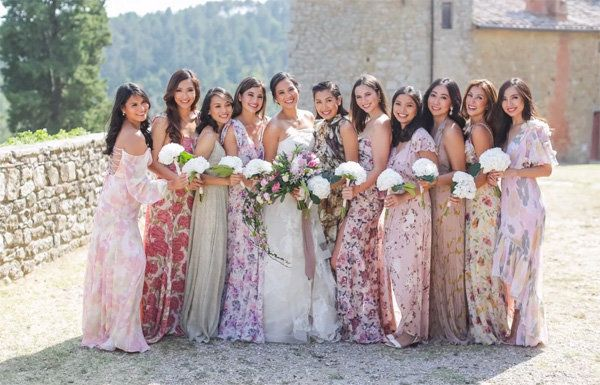 Floral Bridesmaid Dresses Are The Wedding Trend That Will Grow On ...