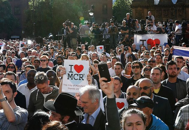 A vigil was held in Manchester on Tuesday