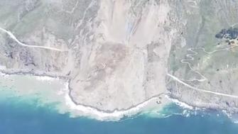 A recent landslide buried a stretch of the iconic Highway 1 along the Pacific Coast in Californias Big Sur region