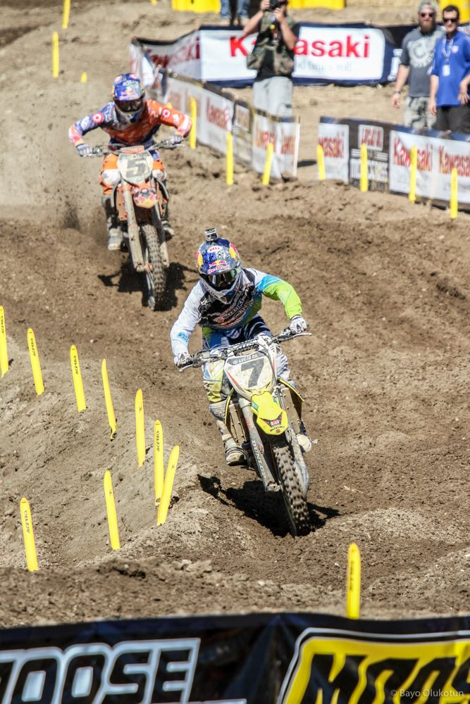 While Ryan did not come out on top in Supercross in 2012, outdoors would prove to be a different story. Early season battles