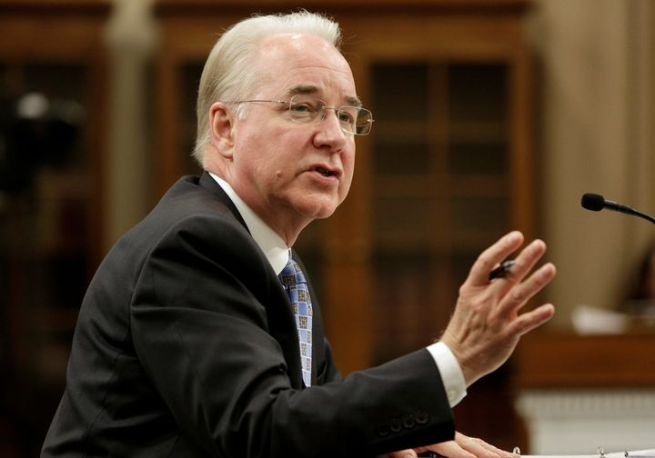 Secretary of Health and Human Services Tom Price testifies at the U.S. Capitol in Washington, D.C., March 29, 2017.