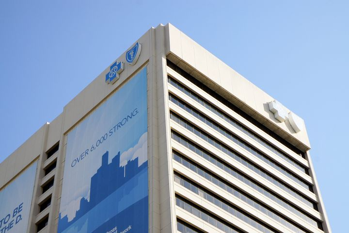 The Blue Cross Blue Shield building in Detroit, on July 21, 2012.