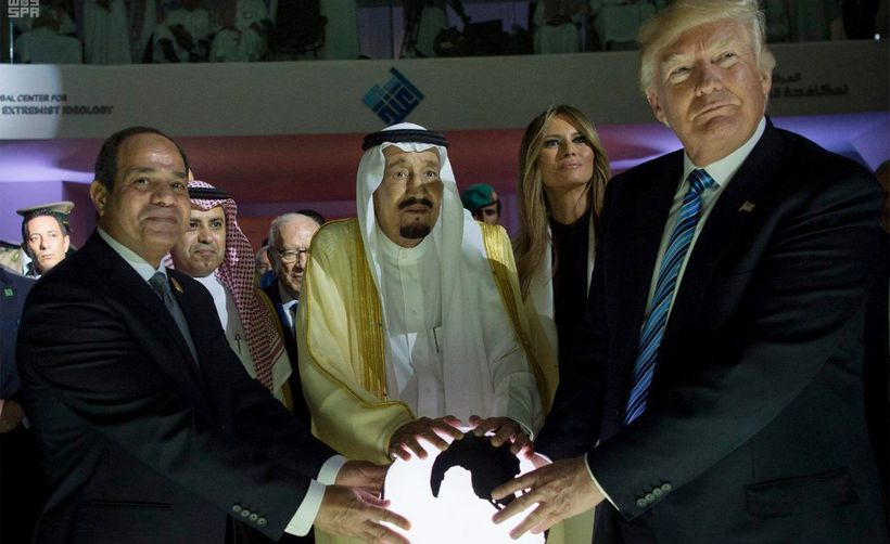 Hail Hydra! Actually, that is the Egyptian dictator, the Saudi king, the American first lady and, of course, the American pre