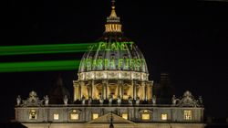 Greenpeace Shines Message For Trump On Vatican Before His Visit With The