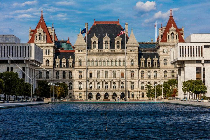 The New York State Capitol in Albany. Democrat Christine Pellegrino defeated Republican Thomas Gargiulo in a special ele