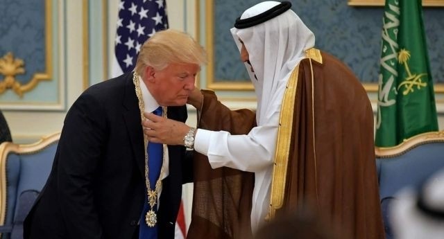 Trump in Saudi Arabia with king Salman