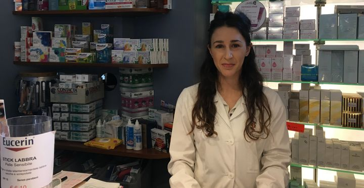 Benedetta Alabardi works at a pharmacy a few blocks from the Vatican. She opposes Trump because of his plans to build a borde