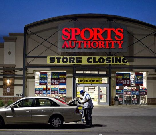 Sports Authorities across America are  closing stores and liquidating inventory.