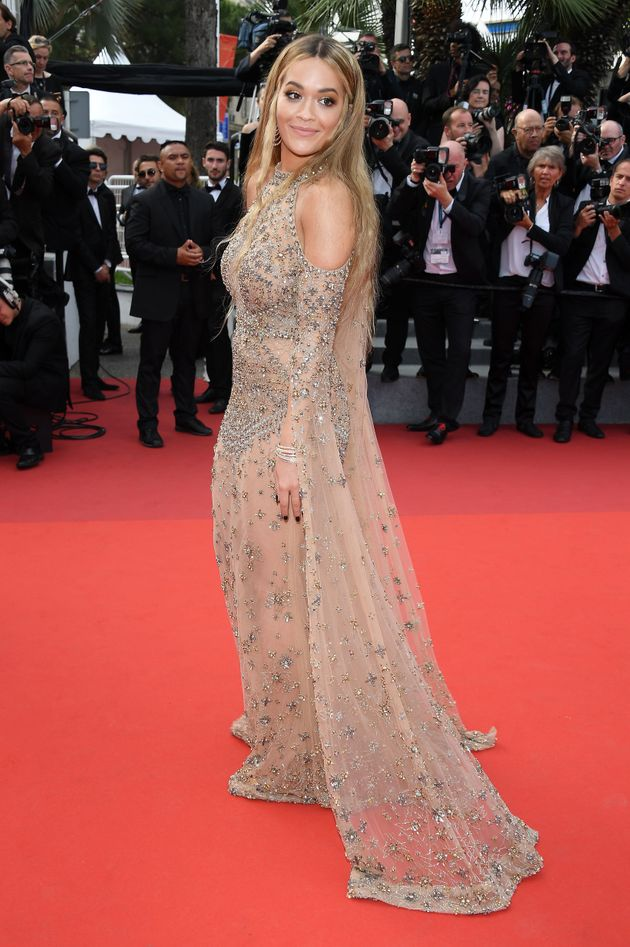 Rita Ora attends the 70th Anniversary screening during the 70th annual Cannes Film Festival at Palais...