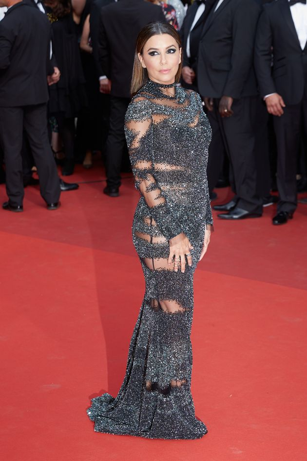 Eva Longoria attends the 70th Anniversary of the 70th annual Cannes Film Festival at Palais des Festivals...