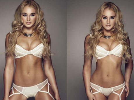 Plus-Size Model Iskra Lawrence Shares Old 'Retouched' Photos To Teach Vital Body Image Lesson