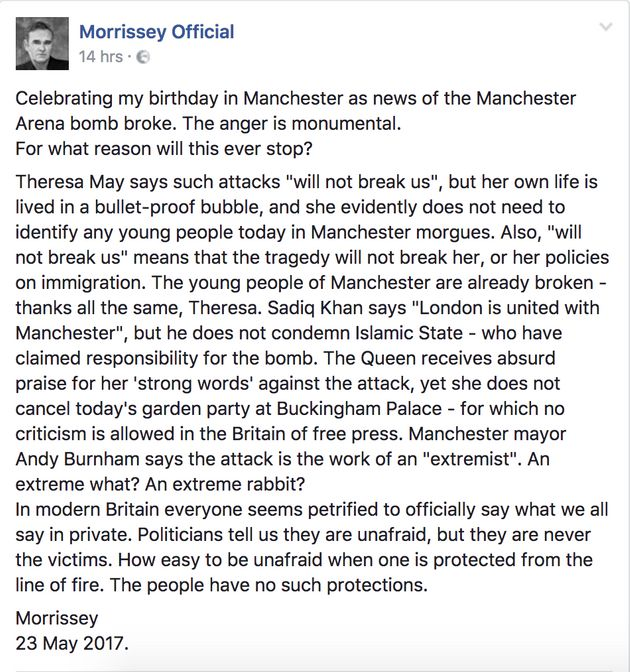 Morrissey's statement in