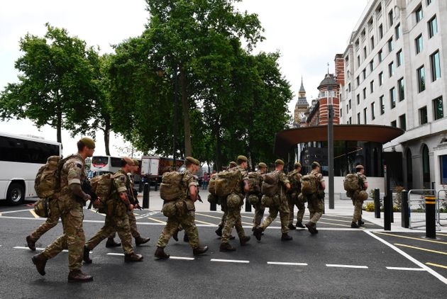 Soldiers arrived to help police secure key sites across London on