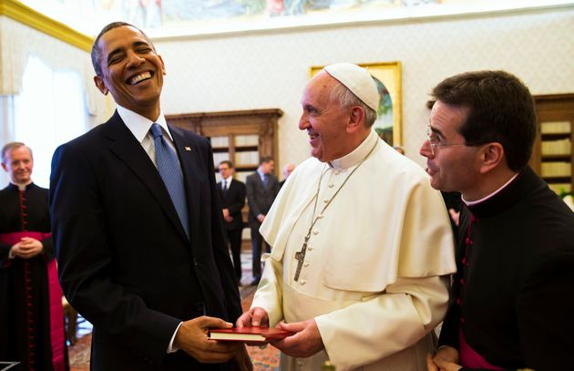 Pope Francis meeting President Barack Obama in March