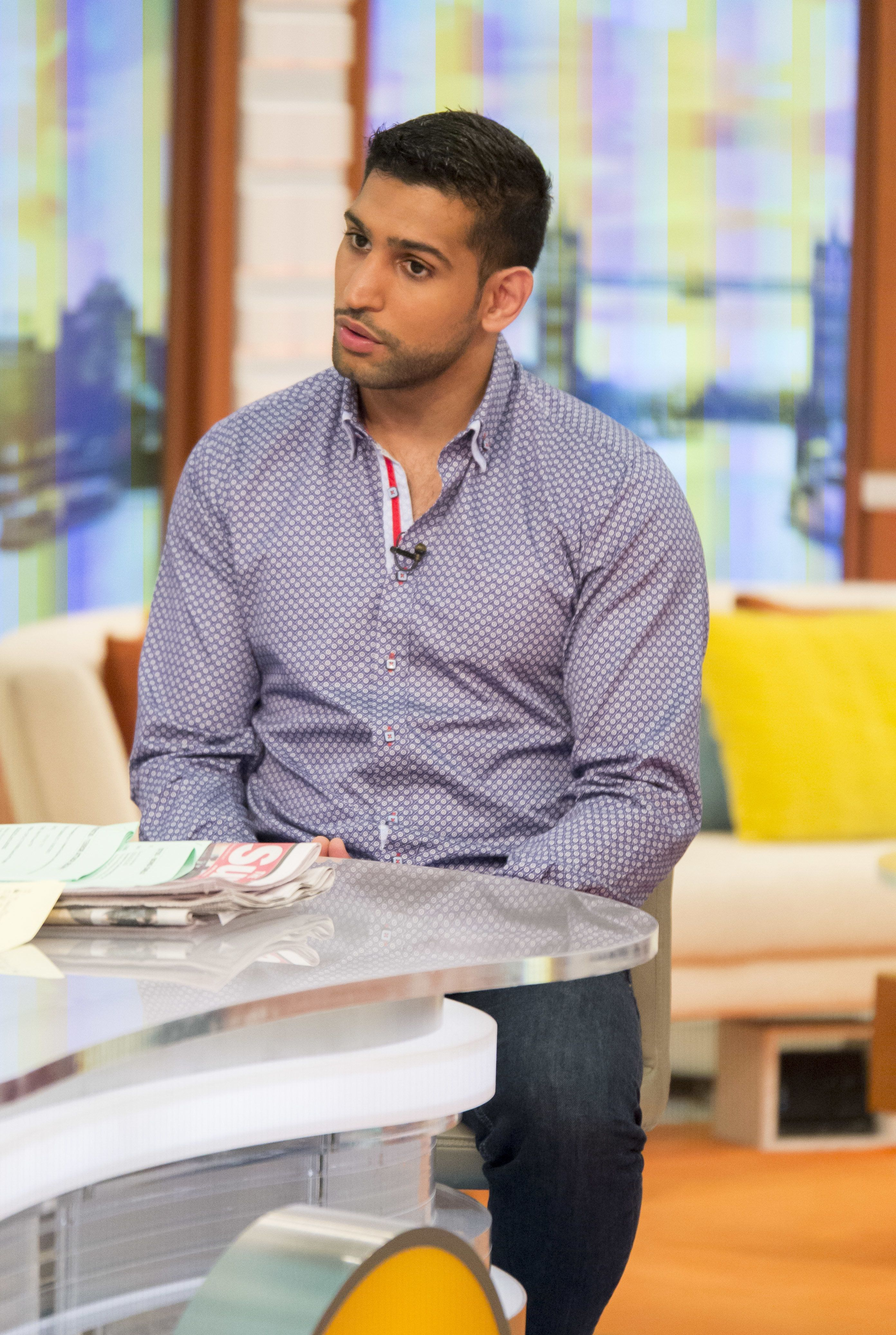 Amir Khan appeared on Wednesday's 'Good Morning