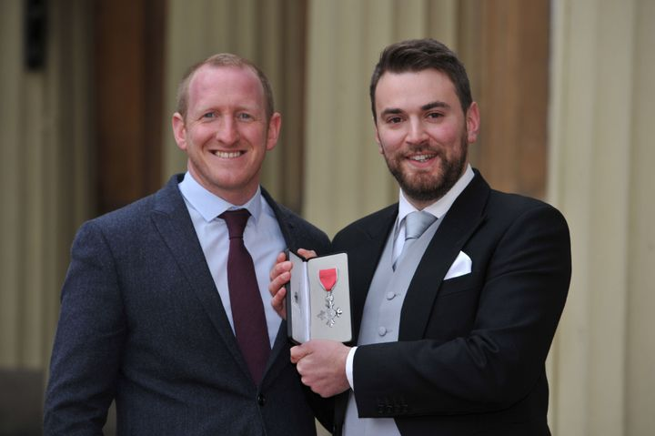 Jonny Benjamin (right) with Neil Laybourn, who saved his life.