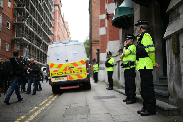A controlled explosion was used to gain entry to a property in Manchester city centre on