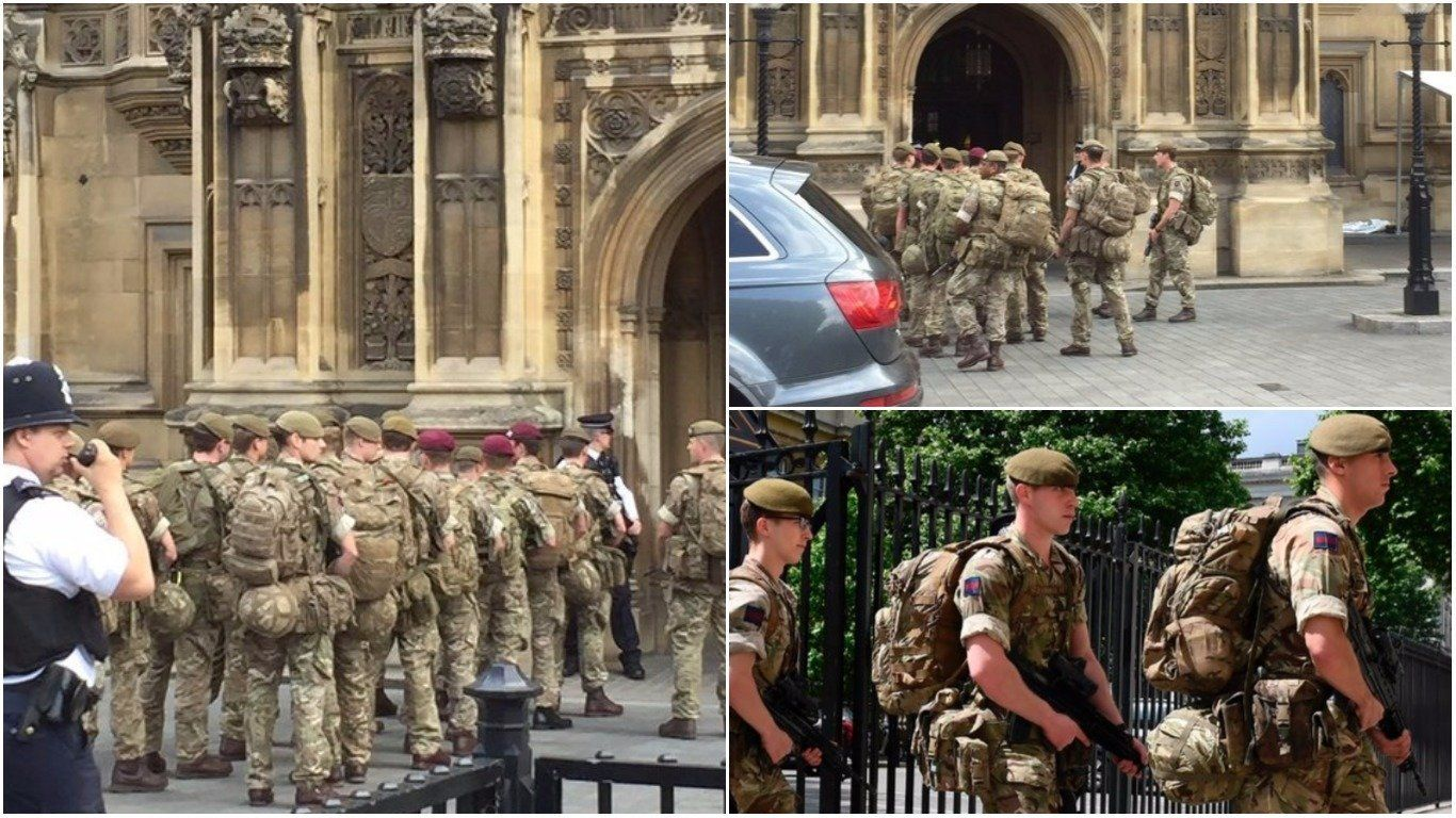 'Critical' UK Threat Level See Armed Soldiers Hit Britain's