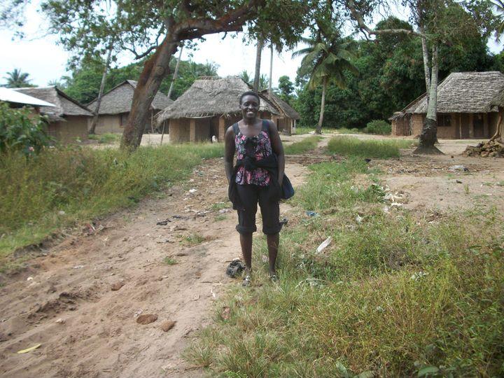 Esther in her village.