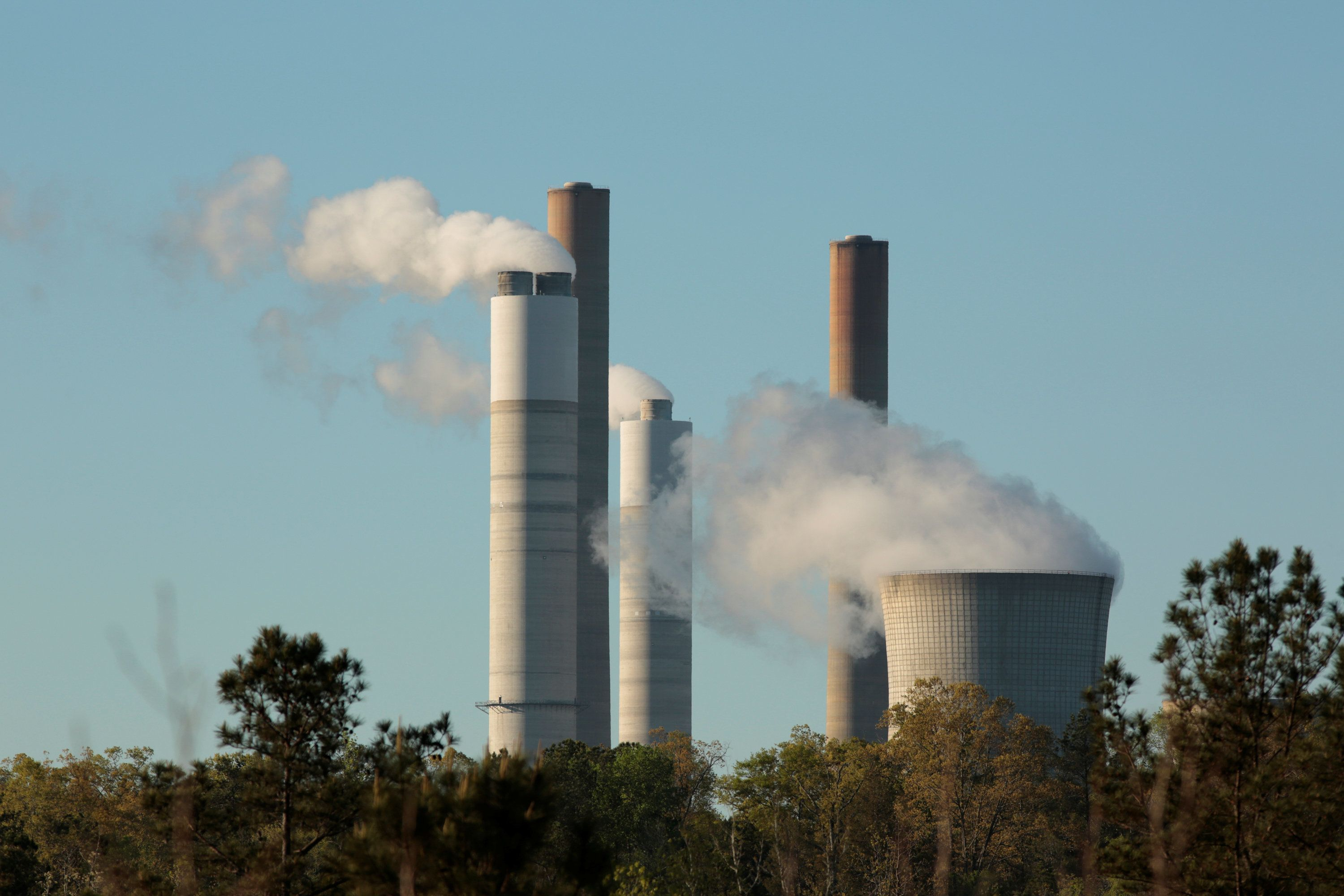 The Robert W Scherer Power Plant, a coal-fired electricity plant operated by Georgia Power, a subsidiary of the Southern Comp