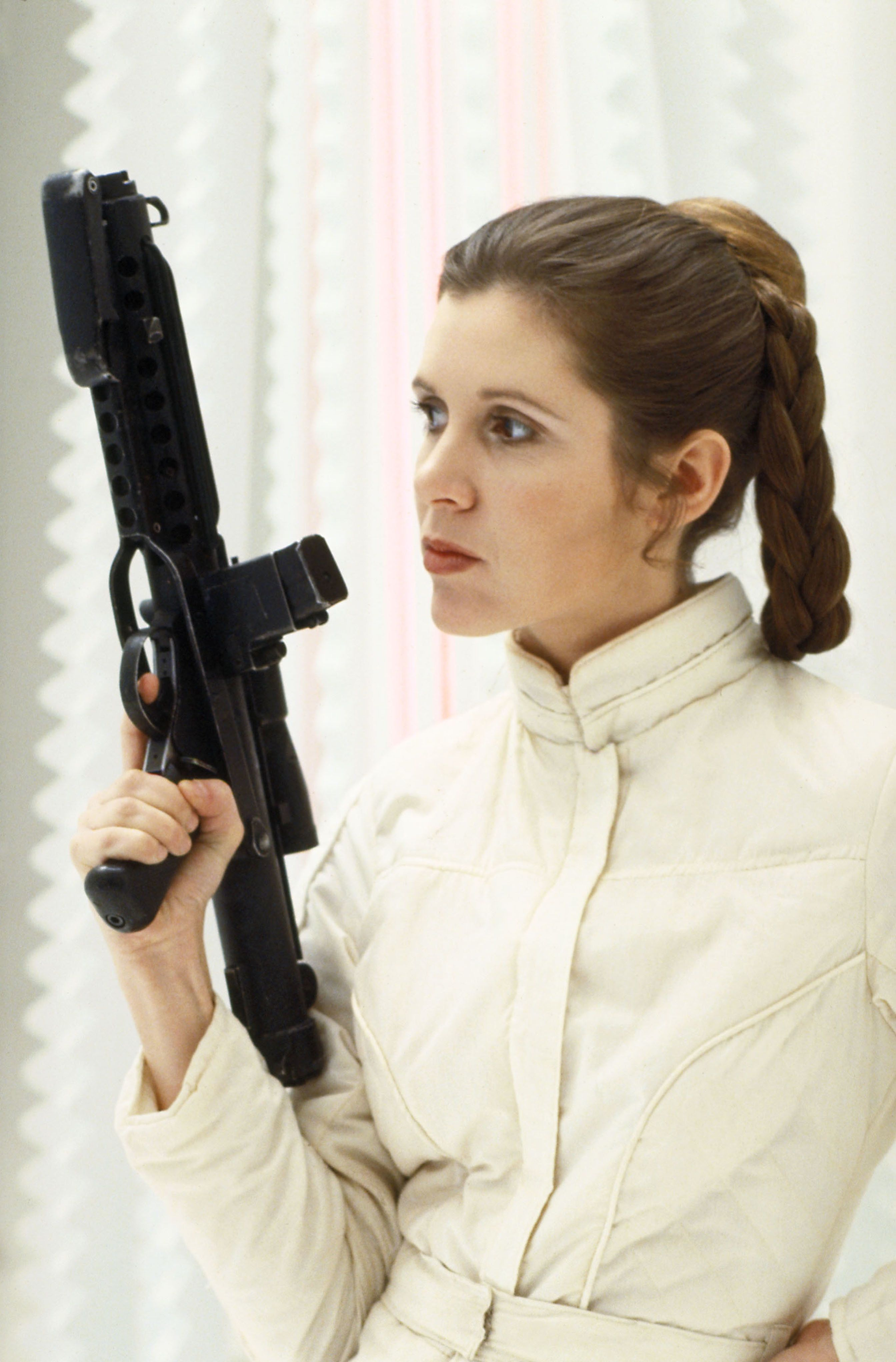 Carrie Fisher as Princess Leia in 'The Empire Strikes
