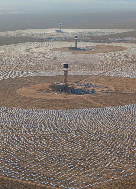 Ivanpah Solar Electric Generating System in California's Mojave Desert / Utility Dive