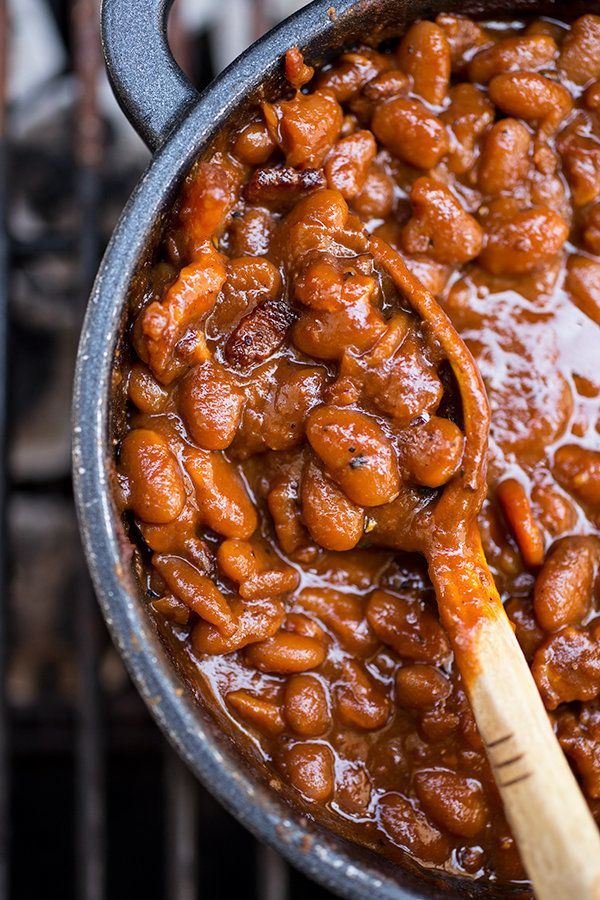 """<strong>Get the <a href=""""http://thecozyapron.com/cozy-bbq-buddy-smoky-bourbon-baked-beans-and-busting-out-those-vinyl-tablecl"""