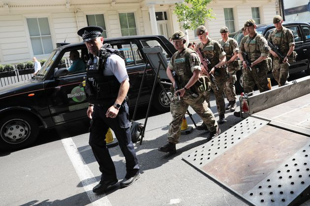 Soldiers will work with police to secure key UK