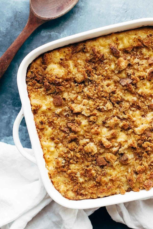 """<strong>Get the <a href=""""http://pinchofyum.com/baked-mac-and-cheese"""" target=""""_blank"""">Baked Mac and Cheese recipe</a>fro"""