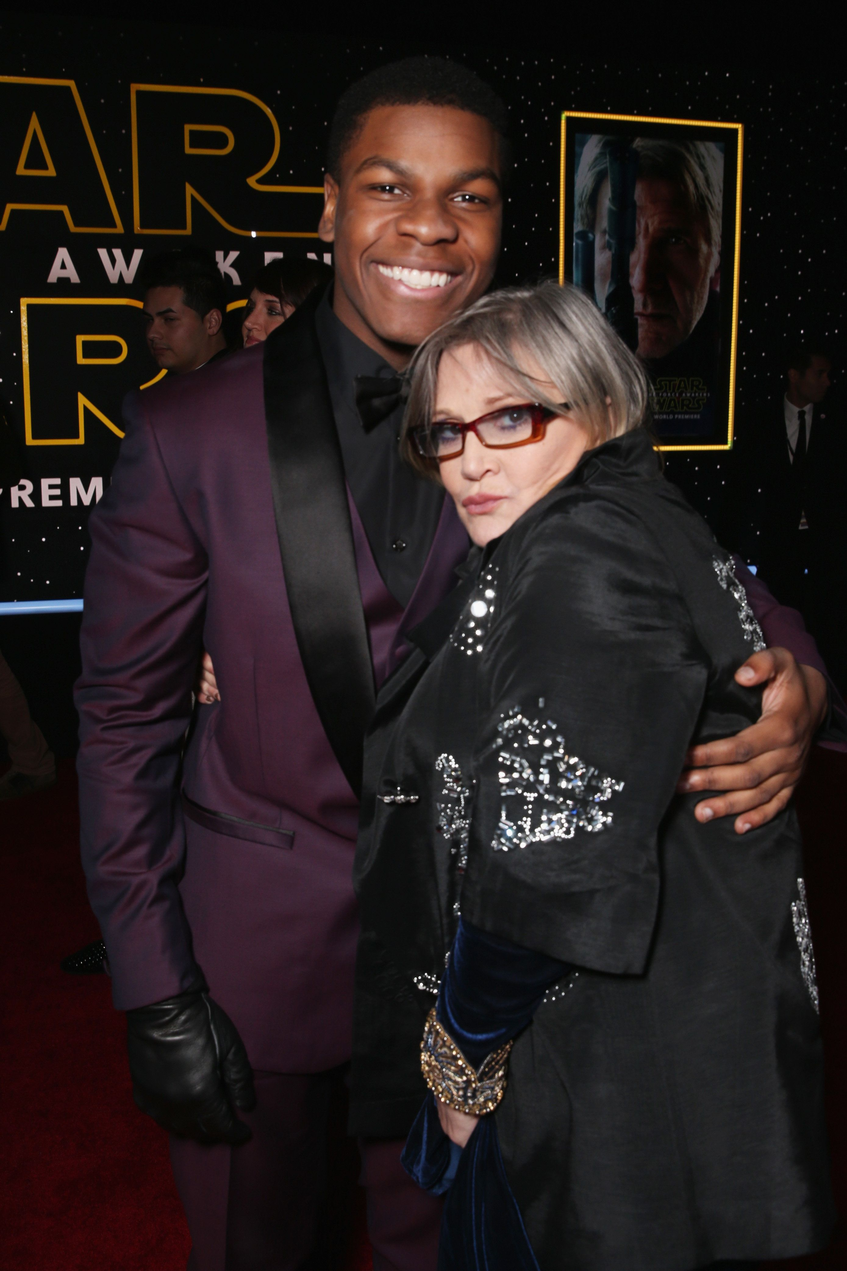 John and Carrie at the 2015 'Star Wars: The Force Awakens'