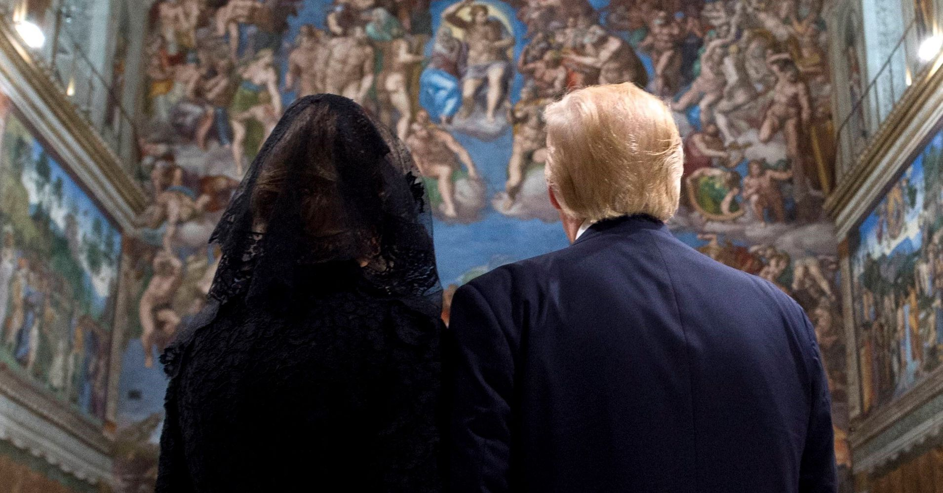 Trump And Melania Hold Hands In Sistine Chapel, Observe 'Last Judgment'