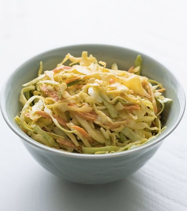 """<strong>Get the <a href=""""http://www.simplyrecipes.com/recipes/coleslaw/"""" target=""""_blank"""">Classic Coleslaw recipe</a>fro"""