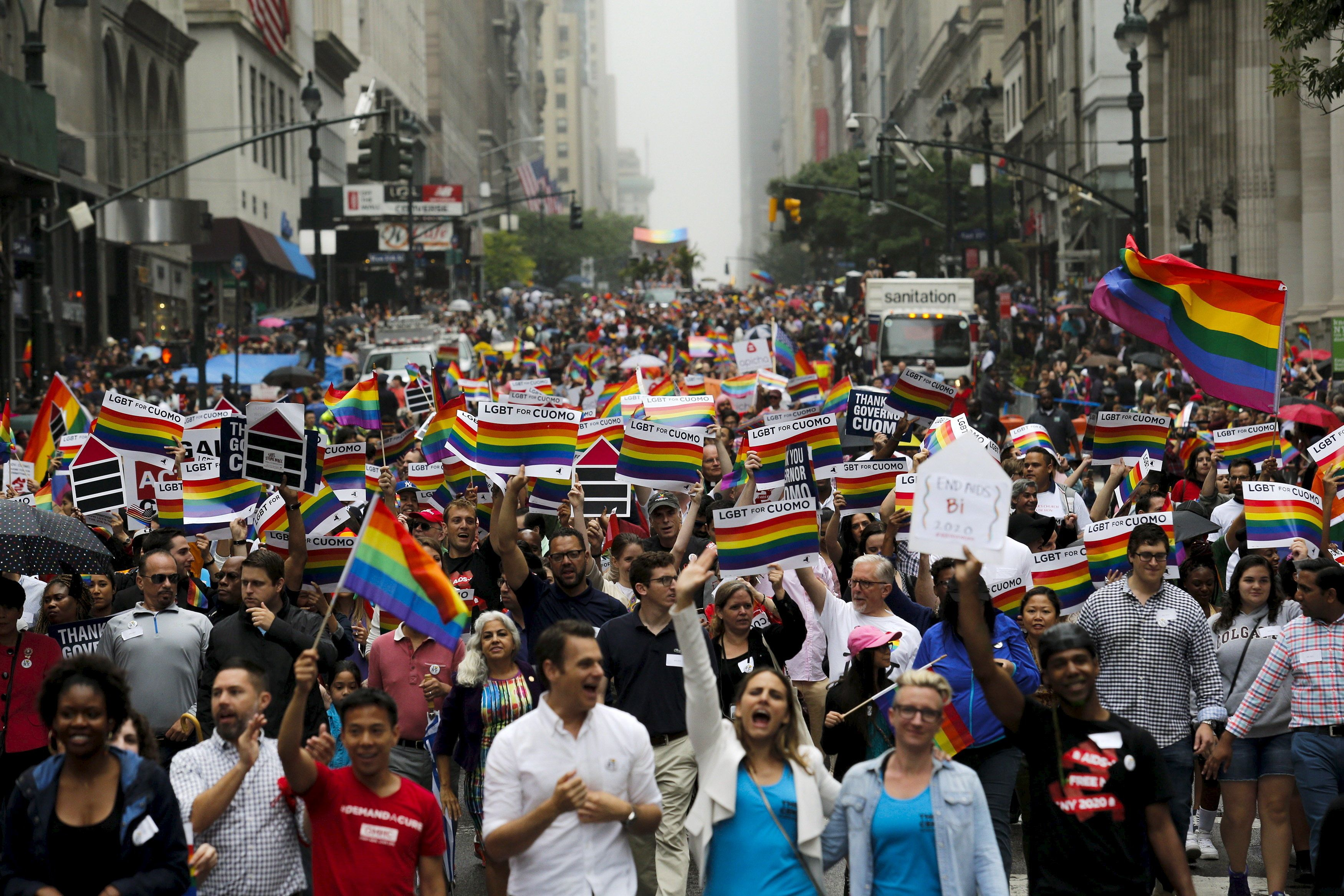 New York's 2017 LGBT Pride March will be broadcast on WABC-TV.