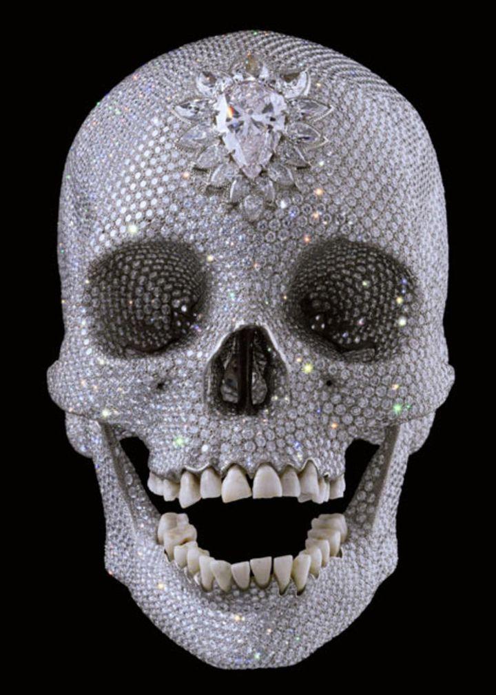 Damien Hirst's diamond incrusted skull (Skull Star Diamond, 2007) is the pinnacle of 'luxury art' in the 21st century.