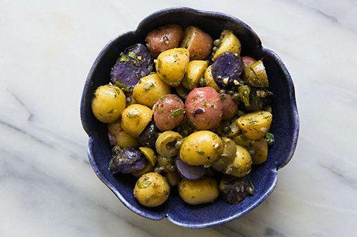"<strong>Get the <a href=""http://www.simplyrecipes.com/recipes/provencal_potato_salad/"" target=""_blank"">Provencal Potato Salad"