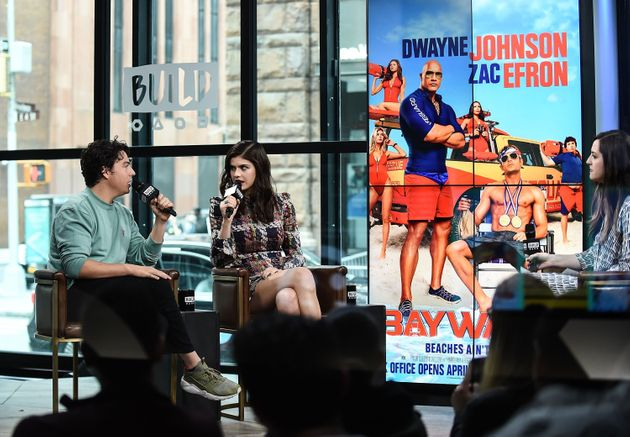 Jon Bass and Alexandra Daddario attend Build Series to discuss the new film 'Baywatch' at Build Studio...